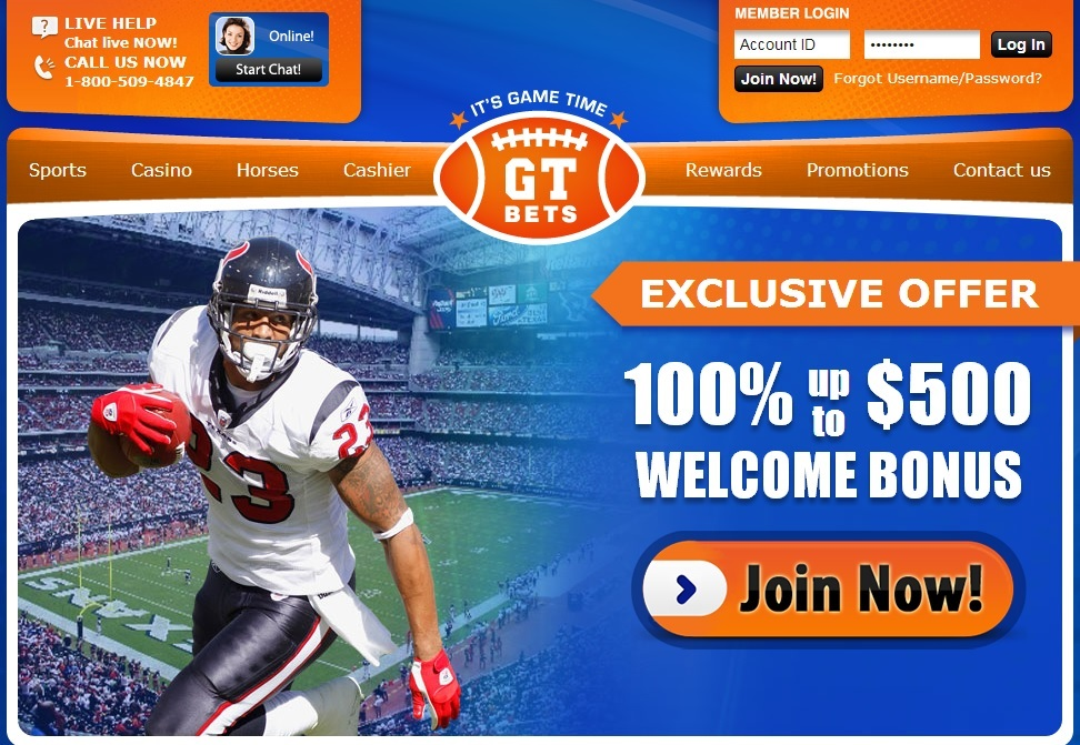 100% Bonus at GT Bets