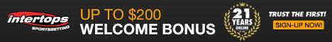 200% Bonus at Intertops